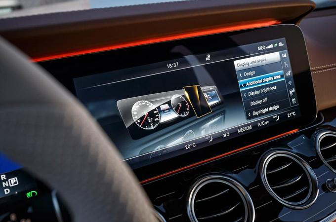 Mercedes E-Class Infotainment Screen